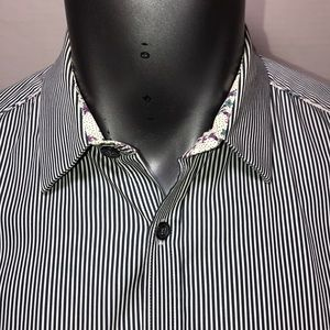Ted Baker London Shirts - Ted baker striped long sleeve button up size 5